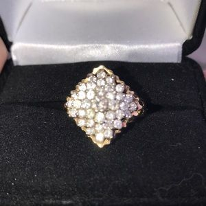 VINTAGE 1.5CTW Genuine Natural Diamonds 14k Ring